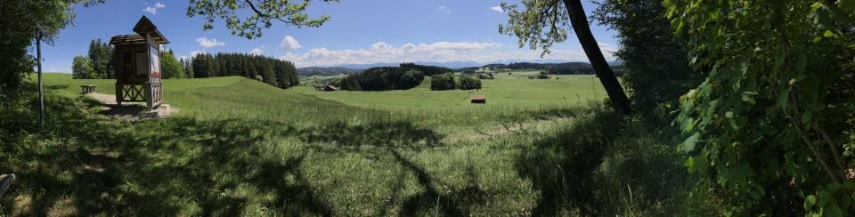 """Unterwegs zwischen Peiting und Schongau auf den Spuren vom """"Römern und Welfen"""""""