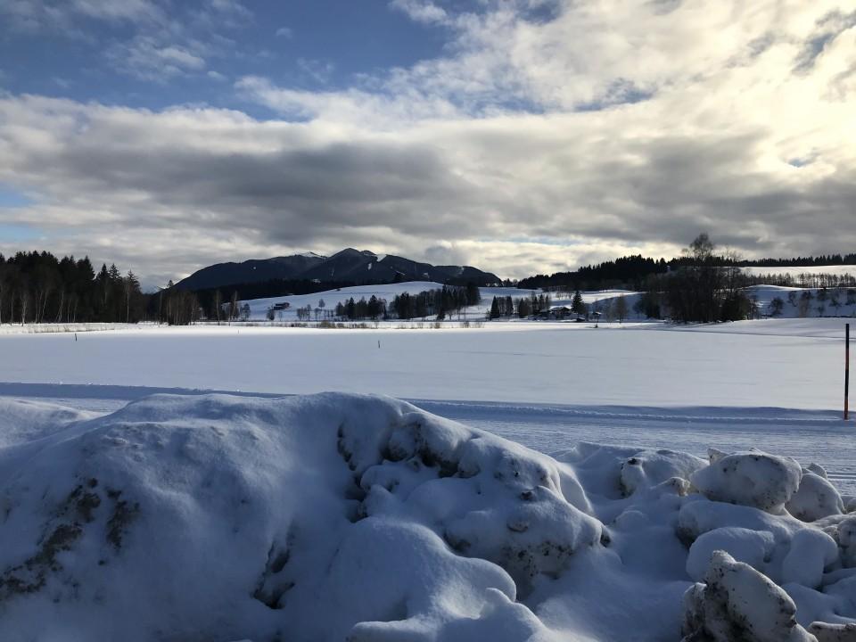 Unterwegs auf der Langlauf-Seerunde in Bad Bayersoien