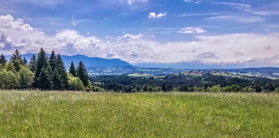 Unterwegs auf dem Sonnenbichlweg zwischen Schönberg und Kirnberg