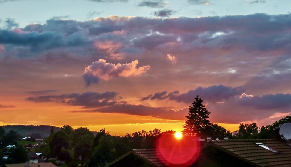 Sonnenuntergang im Bayerischen Oberland