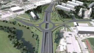 3D-Visualisierung der Tölzer Nordspange - Rundflug