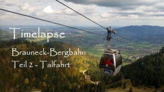 Timelapse - Brauneck Bergbahn - Talfahrt