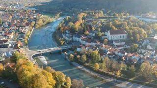Herbstflug in Bad Tölz